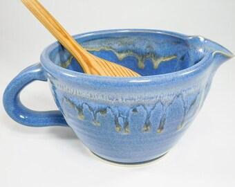Kitchen Batter Bowl - Mixing Bowl - Ceramic Pour Bowl - Pottery Batter Bowl - Batter Bowl Pottery - Whisking Bowl - Gravy Boat - InStock