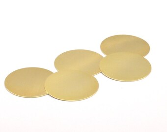 Brass Stamping Blank, 10 Raw Brass Stamping Blanks Disces, Without Hole (38x0.50mm) A0945
