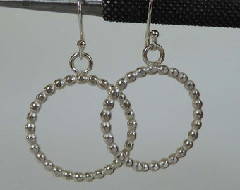 sterling silver circle earrings hallmarked hoops