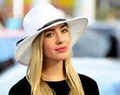 Fedora Sunblock Hat SPF 50 Packable Hat Crushable Hat Travel Hat Wide Brim Straw Fedora Beach Hat Women's Hat Coachella Festival Hat