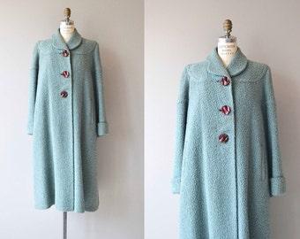 Take to the Sky coat | vintage 1940s wool coat | boucle wool 40s coat