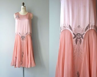 La Coquette beaded dress | 1920s silk beaded dress | vintage 20s dress