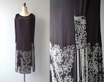 Garçonette beaded dress | vintage 1920s dress | silk beaded 20s dress