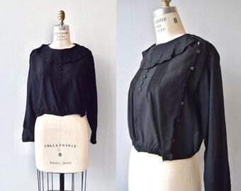 Au Revoir silk blouse | antique 1920s blouse | silk 20s blouse