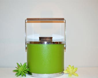 Vintage Mod Green Kromex Ice Bucket