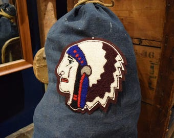 Vintage chief head varsity patch