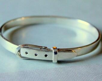 Buckle Bracelet Sterling Silver 925 Equestrian