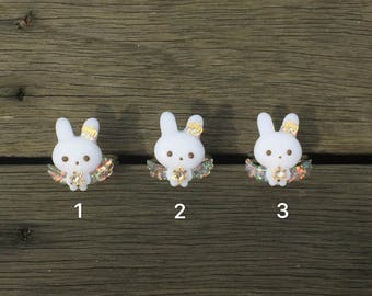 Angel bunny rings