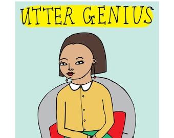 Congratulations Card - Utter Genius