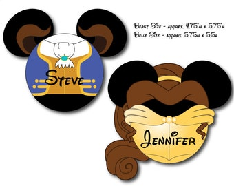 Disney Inspired Beauty and the Beast Mouse Head Magnet SET for Disney Cruise