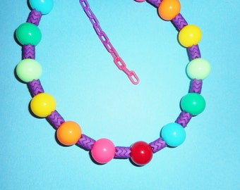 Purple Mandy Candy Necklace