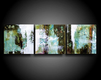Abstract Painting Original Encaustic Art Modern Minimalist Wall Art Home Decor Textured Painting Outsider Art
