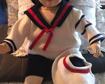 Vintage Doll Suzanne Gibson sailor doll 1977 BILLY - Baby doll, sailor doll, toy