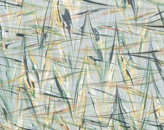 Marbled Paper with a Dark Gray, Pale Grey-Green, Yellow Ochre, and Mars Red Wheat Pattern