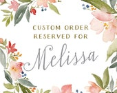 Reserved for Melissa - Custom Watercolor - Texas landscape - Wedding watercolor