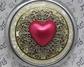 Compact Mirror Valentines Day Heart of Hearts Comes With Protective Pouch
