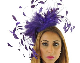 Eagle - Purple  Fascinator Kentucky Derby or Wedding Hat With Headband