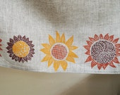 Custom Sunflower linen curtain panels
