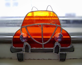 Fathers Day Volkswagen VW Bug Beetle VW Stained Glass Suncatcher Hippie Classic Cars Vintage Retro Birthday Honeymoon Original Design©