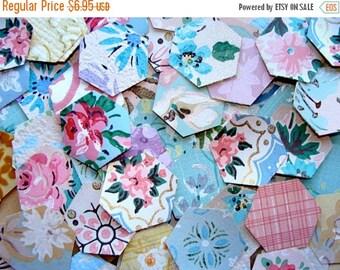 ONSALE 2 Dozen Gorgeous Vintage and Antique Wallpaper Die cut Scraps