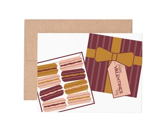 Macaroon Valentine Letterpress Greeting Card - Blank Card | Love Card | Valentine's Day | Greeting Cards
