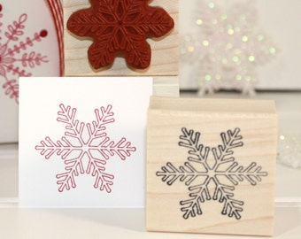FROSTY SNOWFLAKE Rubber Stamp~Christmas Holiday Winter Crafting Card Making~DIY Decor~Wood Mounted Stamp by Mountainside Crafts (29-05)
