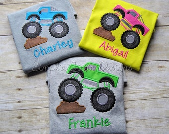 Monster truck shirt. Personalized. Custom - you can choose all colors!