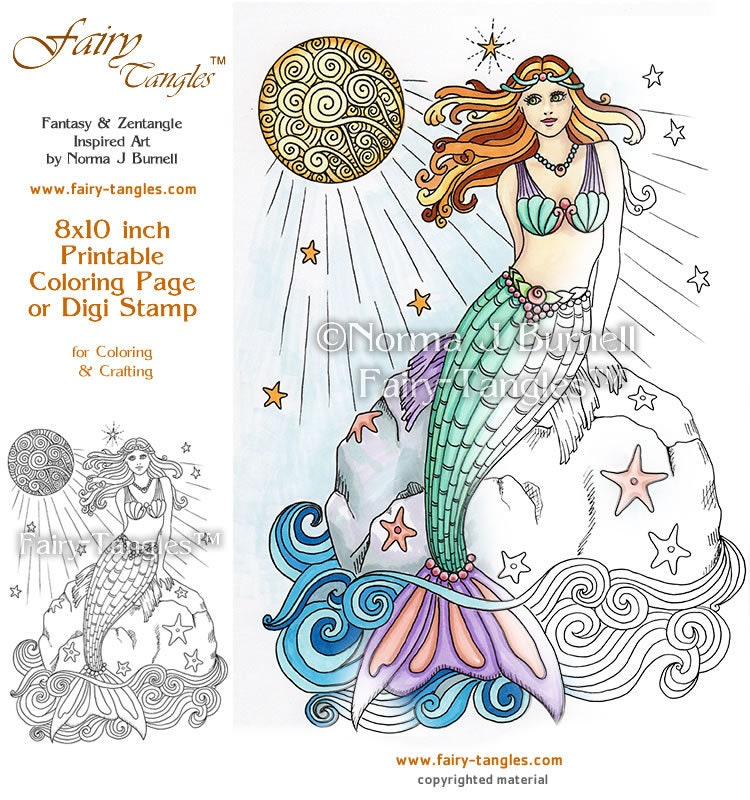 Sailor Moon Mermaid Anime Coloring Page for Kids Printable ... |Moon Mermaid Coloring Pages
