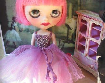 Blythe Hand-Beaded Silk and Tulle Ballet/Evening/Fairy Tutu Gown - Plum