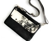 Hip Pack Hip Pouch Fanny Pack Black Bleached Denim