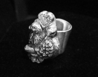 Love Birds Ring Sterling Silver and CZ
