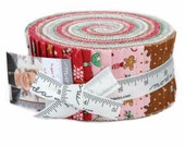 SPRING SALE - Sugar Plum Christmas - Jelly Roll - Bunny Hill Designs - Moda Fabric
