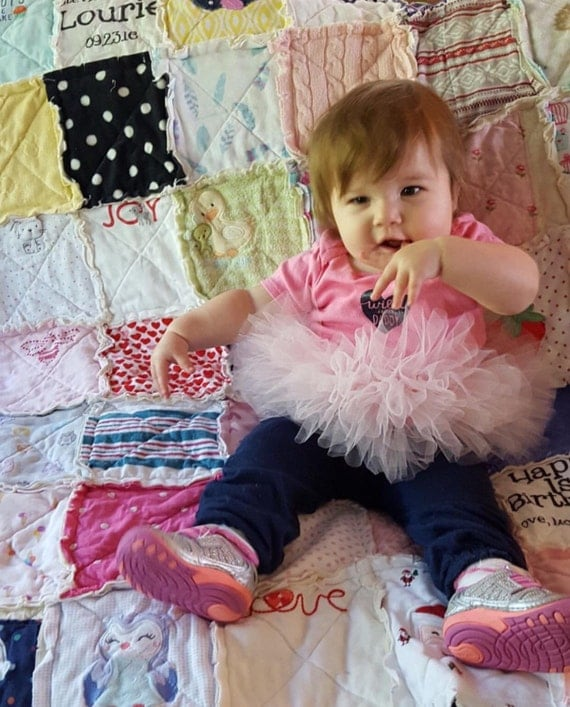 Memory Quilt, Rag, Crib Size, Made with your own clothing, Tshirt Quilt, Baby Clothing Quilt, Toddler Clothing Quilt, 1st Year Quilt