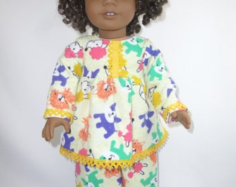 18 inch American Girl Doll Puppy Pajamas