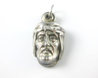 Vintage Creed Religious Catholic Sterling Silver Charm Pendant Pendant Opens Up With A Pray