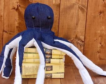 Plush Navy Octopus