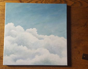 Cloud Bank 12x12 Original Acrylic Painting on Canvas