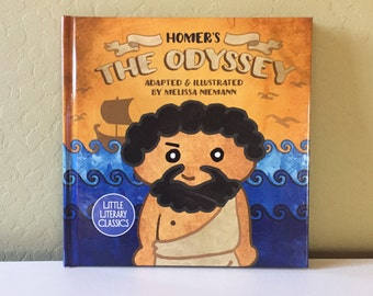 The Odyssey by Homer hardcover  toddler childrens kids book cute Greek ancient myth Little Literary Classics 8.5 by 8.5 inches