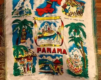 Souvenir Pillow Sham, Panama, Great White Fleet