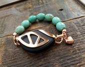 Bellabeat Urban Accessory - Turquoise howlite with rose gold
