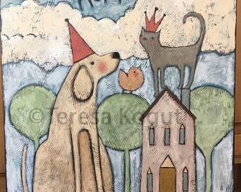 Art for Children | Children's Art | Wall art | Home Decor | Teresa Kogut Art | Furbaby