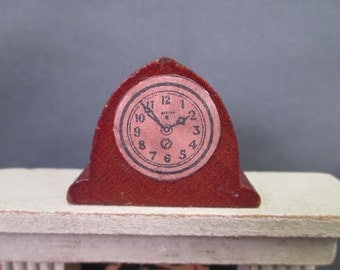 Vintage Miniature Kage Dollhouse Furniture - Mantle or Shelf Clock - 3/4 Scale