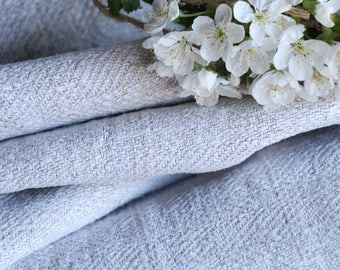 C 873:  handloomed antique linen plain,NATURAL 5.24yards 리넨 french lin curtain panel;  cutting project, upholstery, roman blinds