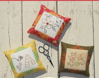 Pretty Pins #3 Embroidery Pin Cushion Pattern download