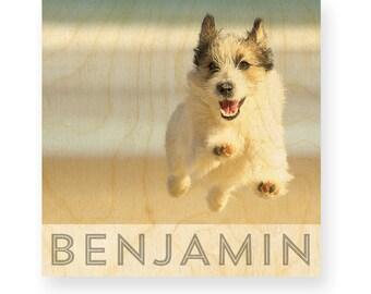 Pet portrait on Wood, personalized pet portrait, pet portrait, dog portrait,  gift for pet lover, dog lover gift
