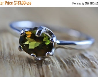 10% OFF HOLIDAY SALE MultiColor Green Yellow Pink Tourmaline Ring- Wire Wrapped Engagement / Wedding Ring - Unique Original Design by Philip