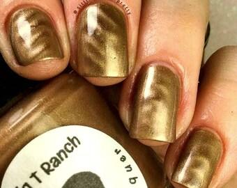 "Magnetic Nail Polish - Metallic Silver - ""Moonstone"" - Magnet Included - Full Size 15ml Bottle"