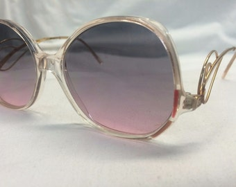 Sophia Loren's Selection Eyeglasses, Vintage Sunglasses with Gradient Lenses in Rose Grey Hombre, New Old Stock Womens Sunglasses