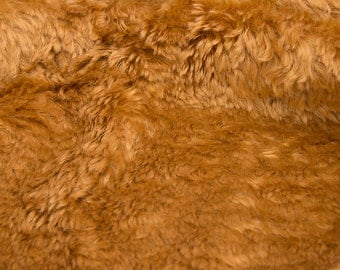 Mohair fabric for teddy bears, Intercal 825 A color 563 with Apricot (?) or Gold fibers-lush and rich!