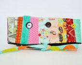 pochette replier,pochette multicolor,étui,shabby,trousse patchwork,replier,replier embrayage,sac,Sacs et bagages,Pochettes,trousse voyage